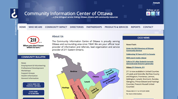 Community Information Centre Website Preview Image