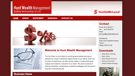 Hunt Wealth Management Group website Image