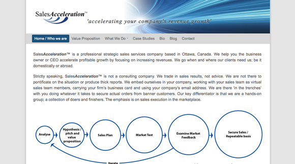 SalesAcceleration Website Preview Image