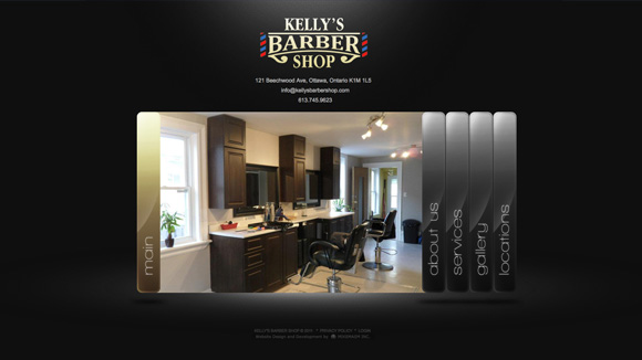 Kelly's Barber Shop Website Preview Image